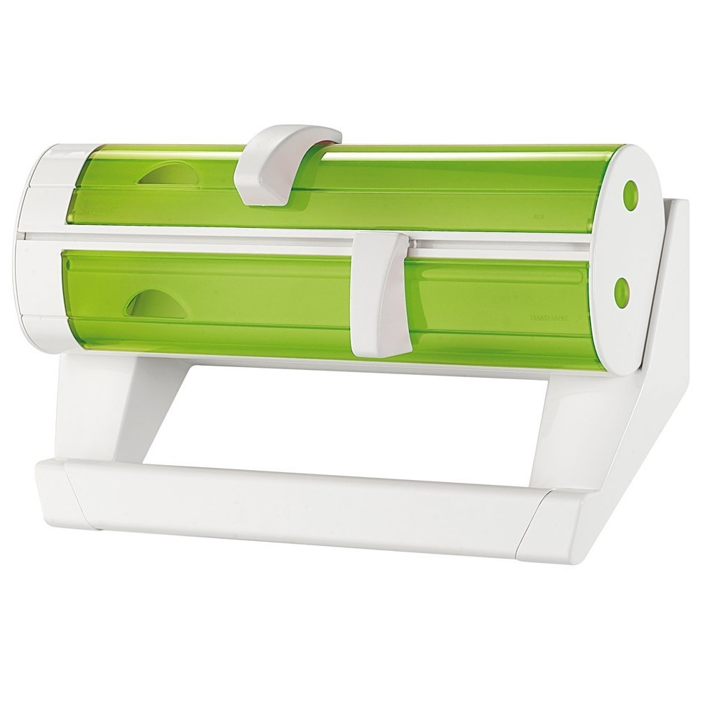 Органайзер для кухни BIS&amp;TRIS зеленый LATINAКомпания Fratelli Guzzini основана в 1912 году, производит пластиковые аксесуары для кухни и дома. Органайзер для кухни - отличный помощник в быту. Он является держателем одноразовых полотенец, и в нем также предусмотрены места для фольги и пергаментной бумаги. Безумно комфортно находиться на кухне, где все сделано так, как удобно хозяйке. А с этим органайзером вам однозначно станет еще удобнее.<br>