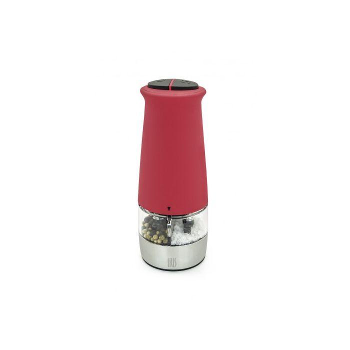 Электромельница 2 в 1Эта красивая электромельница покрыта мягким материалом, есть два раздельных отсека: для перца и соли. 2 перемалывающих головки мельницы сделаны из керамики. Для её работы необходимо 6 батареек размера AAA<br>