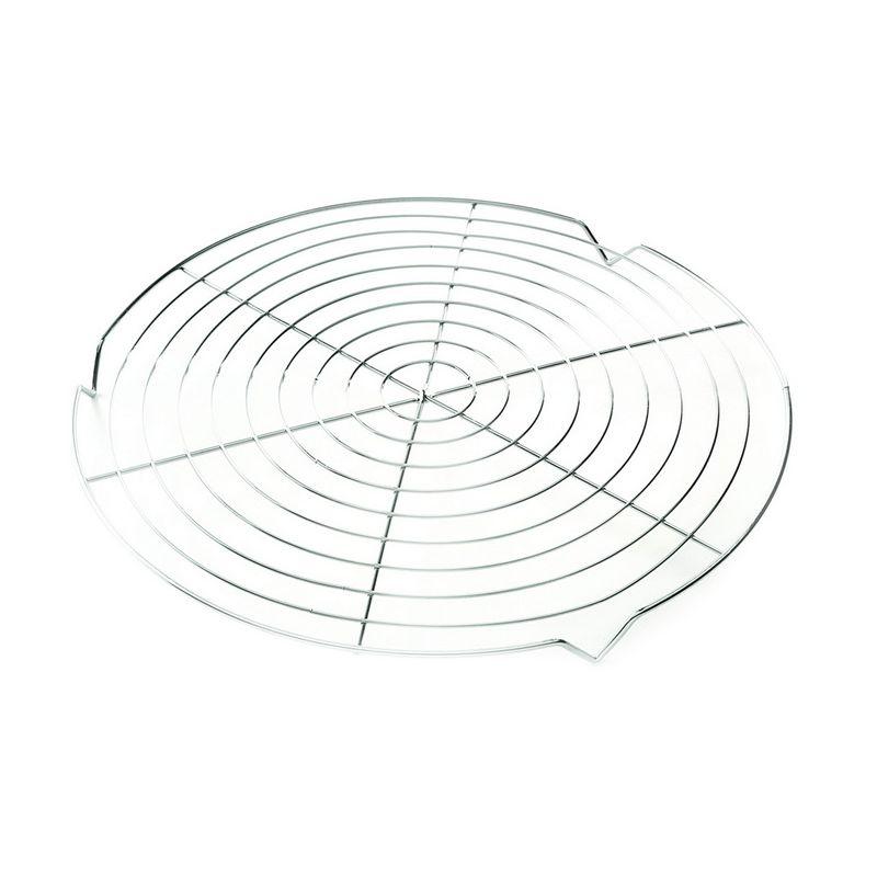 Подставка для торта/пирогаПомимо обычной посуды, в арсенале любой хозяйки обязательно должен храниться «вспомогательный» инвентарь: подставка для горячего, подставка для кружек и подставка для торта или пирога. Легкая и компактная подставка для кондитерских изделий и выпечки станет стильным украшением вашего стола, которое защитит скатерть от возможных пятен. Изготовленная из нержавеющей стали, подставка не темнеет со временем и не подвержена высоким температурам. Кроме того, устойчивое изделие удобно в эксплуатации и легко моется.<br>