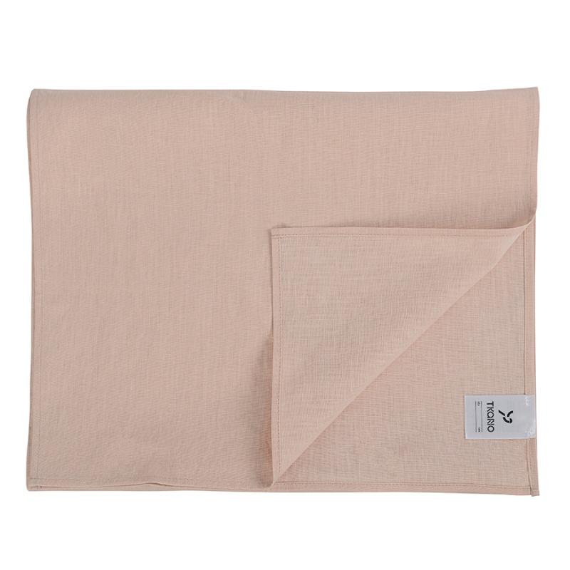 Дорожка на стол из умягченного льна Tkano Essential 45х150 см розово-пудровая