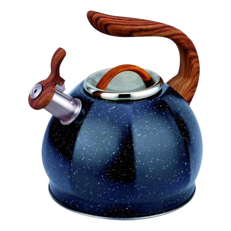 Чайник 3 л со свистком Diolex Teco Чёрный