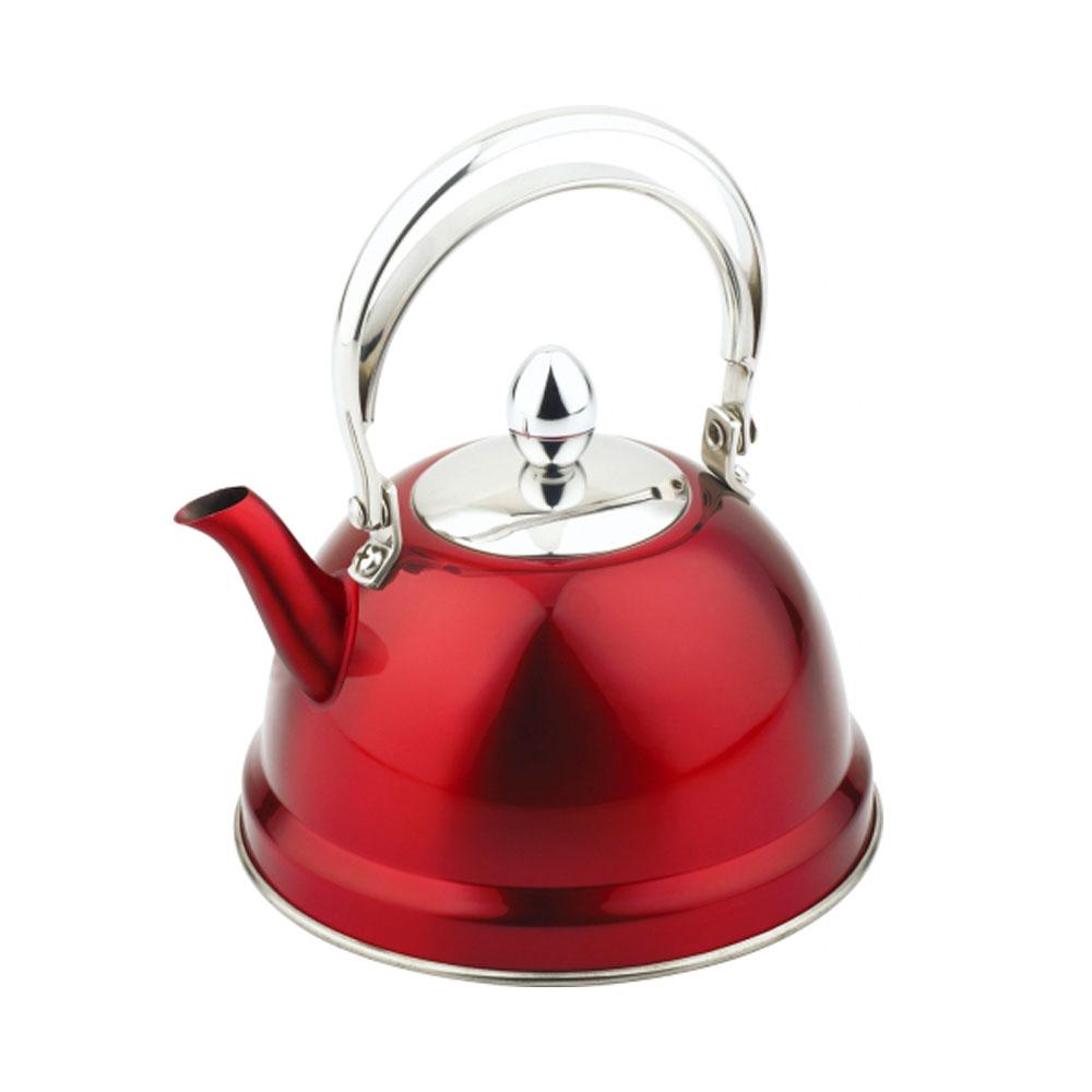 Чайник  заварочный  нерж.  0,7л TK-006/КраснЕсли вы хотите сделать вашу жизнь немного комфортнее, в этом вам поможет посуда от китайского бренда Appetite. Чайник из нержавеющей стали со свистком прослужит вам долгие годы и будет радовать своим дизайном и удобством.<br>