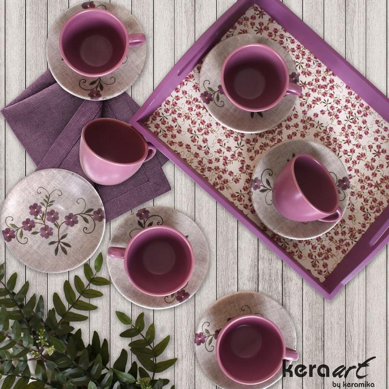 """Набор пар чайных 12 предметов Keramika """",Флер"""","""