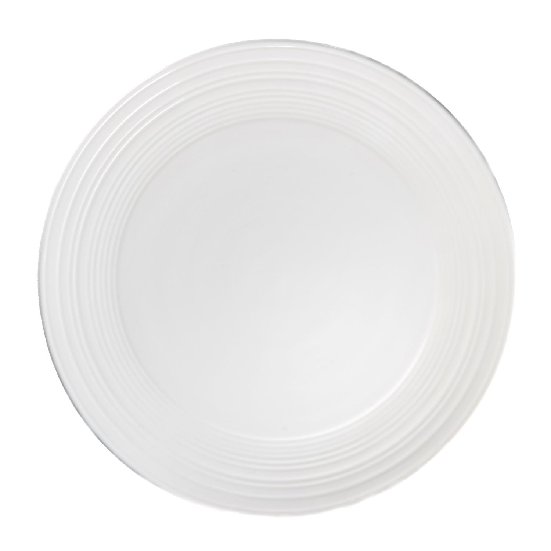Тарелка обеденная SOLA 27 смТарелка Сола станет незаменимым предметом для качественной сервировки стола. Представленная модель изготавливается из прочного стекла, устойчивого к повреждениям. Размер тарелки оптимален для самых разнообразных блюд. Благодаря прочной поверхности изделие надолго сохранит первозданный вид, исключая появление потертостей, царапин и сколов. Лаконичный оригинальный дизайн тарелки станет отличным дополнением к интерьеру кухни, а также позволит вам красиво и стильно сервировать обеденный стол.<br>