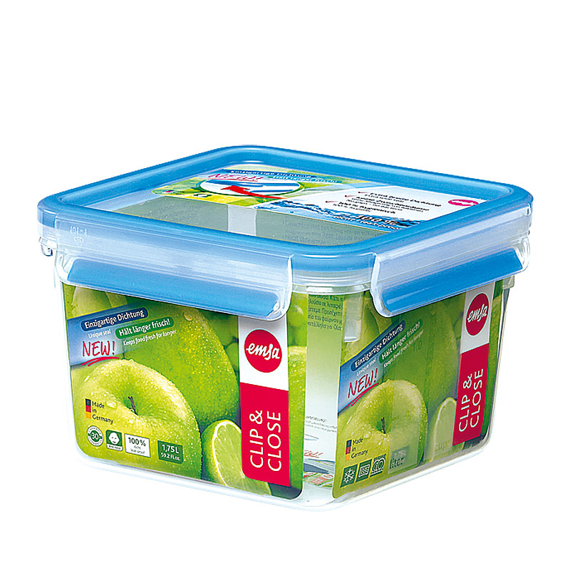 Контейнер CLIP&amp;CLOSE пласт. квадр. 1,75лКонтейнер CLIP &amp; CLOSE - незаменимый аксессуар для дома и работы. Благодаря удобным защелкам, которые герметично закрываются, контейнер можно брать с собой, не опасаясь, что суп выльется или что-то рассыплется. Ёмкость выполнена из прочного и экологически чистого пищевого пластика, который не вреден для здоровья. Объём: 1,75 л.<br>