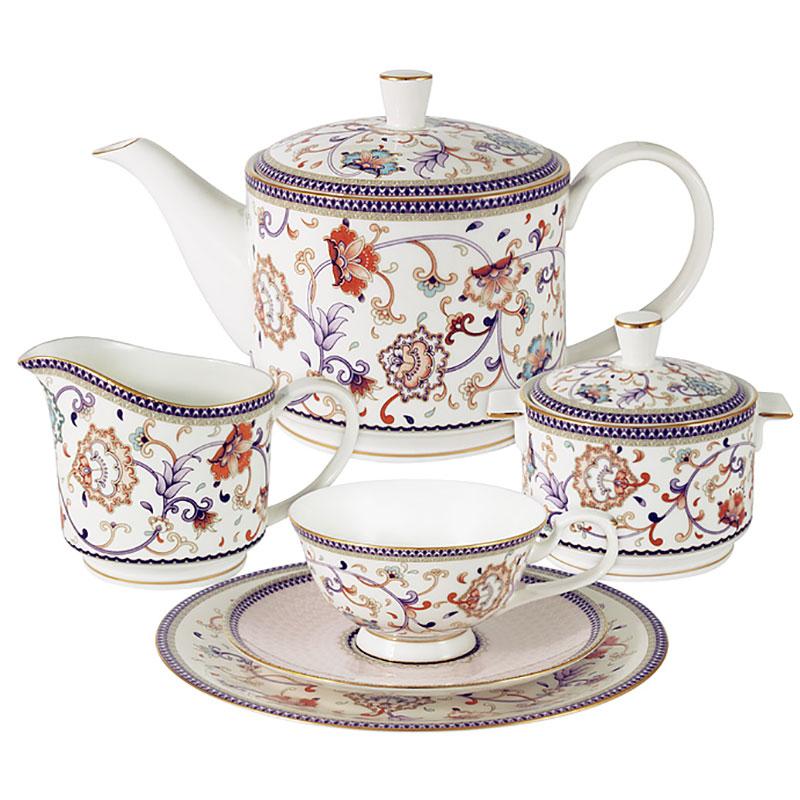 Сервиз чайный 6 персон 21 предмет Anna Lafarg Emily Королева Анна