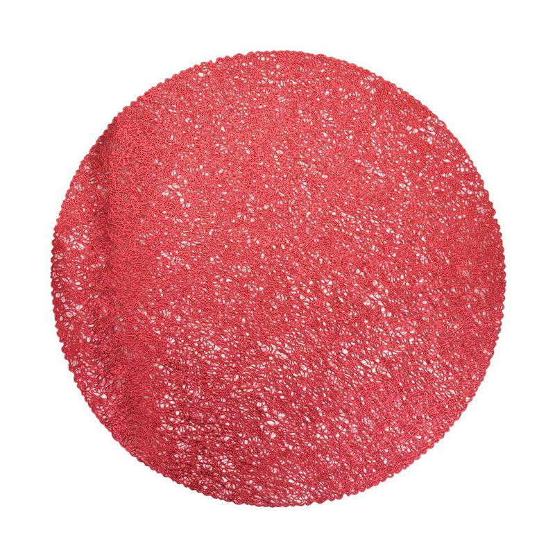 Салфетка сервировочная 41 см красная