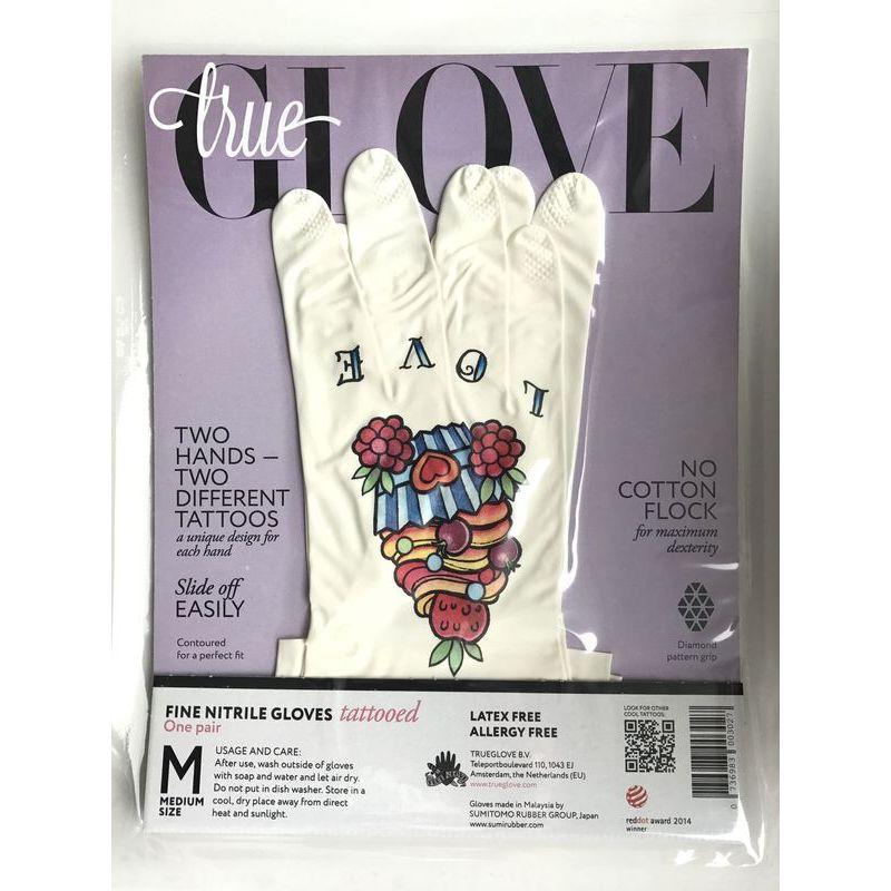 """Перчатки хозяйственные для уборки и сада Trueglove """"LOVE CAKE"""" размер M"""