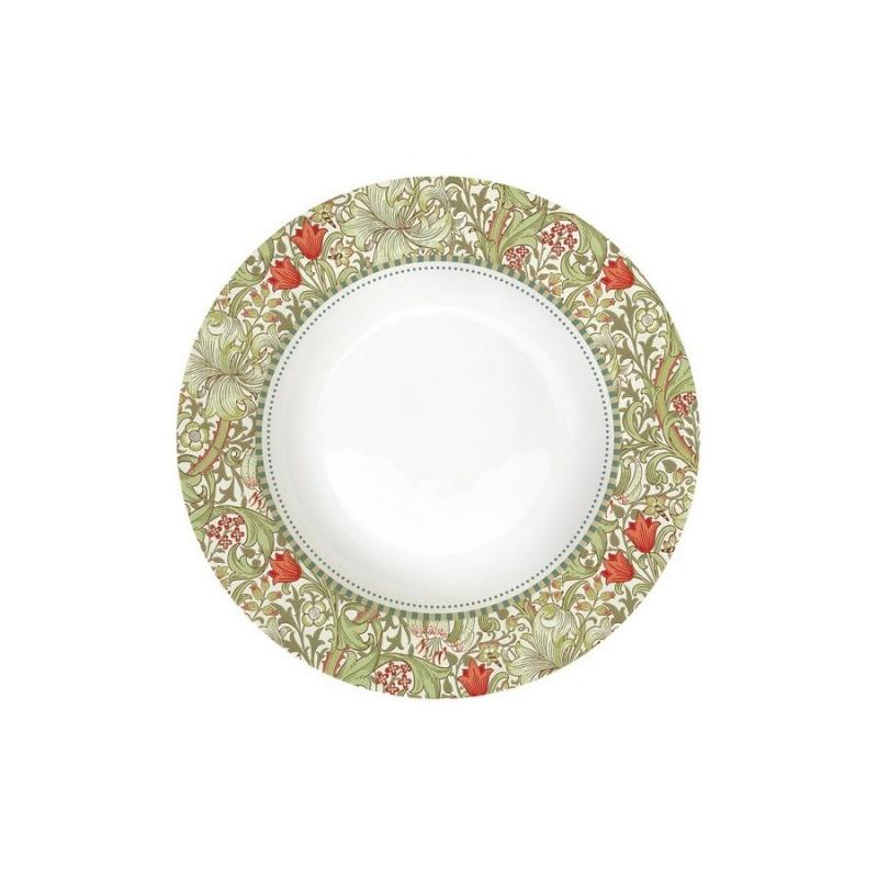 Тарелка суповая 21,5 см Easy Life William Morris зелёный