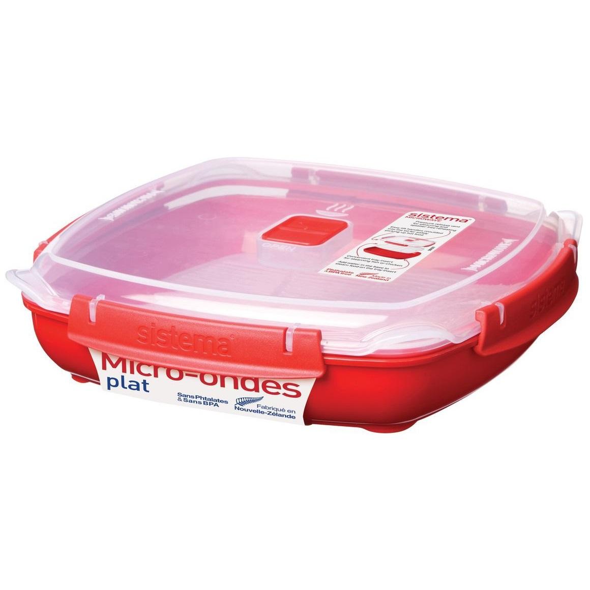 Контейнер пищевой низкий 1,3л Sistema Microwave