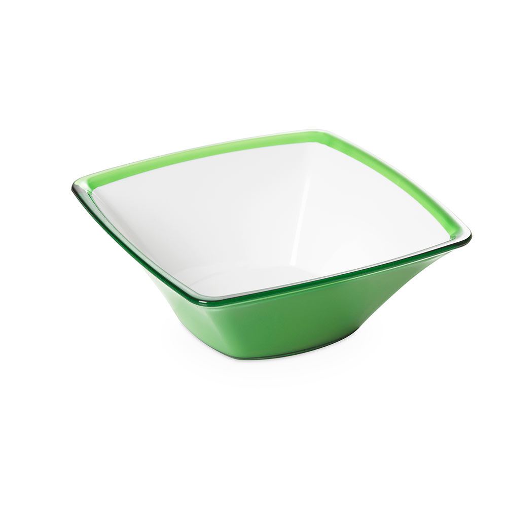 "Салатник квадратный Omada "",Square"", зелёный 24,5 см"