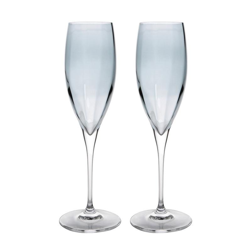 Набор бокалов для шампанского 2 шт. 260 мл Le Stelle Monalisa серый