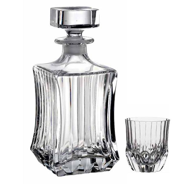 Набор для виски штоф+6 стаканов ADAGIOИзделия от бренда RCR изготовлены из высококачественных материалов, что позволяет использовать их долгие годы. Хрустальные изделия не требуют специального ухода и обладают ударостойкими качествами<br>