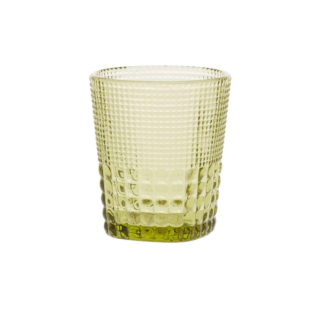 Стакан для напитков Royal drops, оливковыйСтакан для напитков Ройял дропс имеет удобную форму с легким расширением к верхней части. Поверхность стакана украшена рельефным узором, очень приятным на ощупь, который также помогает надежно держать емкость в руке. Стакан изготовлен известным производителем качественного кухонного инвентаря Магиа Густо. Его толстое стекло приятного оливкового цвета помогает дольше сохранить первоначальную температуру налитого в стакан напитка. Эстетичный дизайн стакана Ройял Дропс поможет украсить сервировку стола.<br>