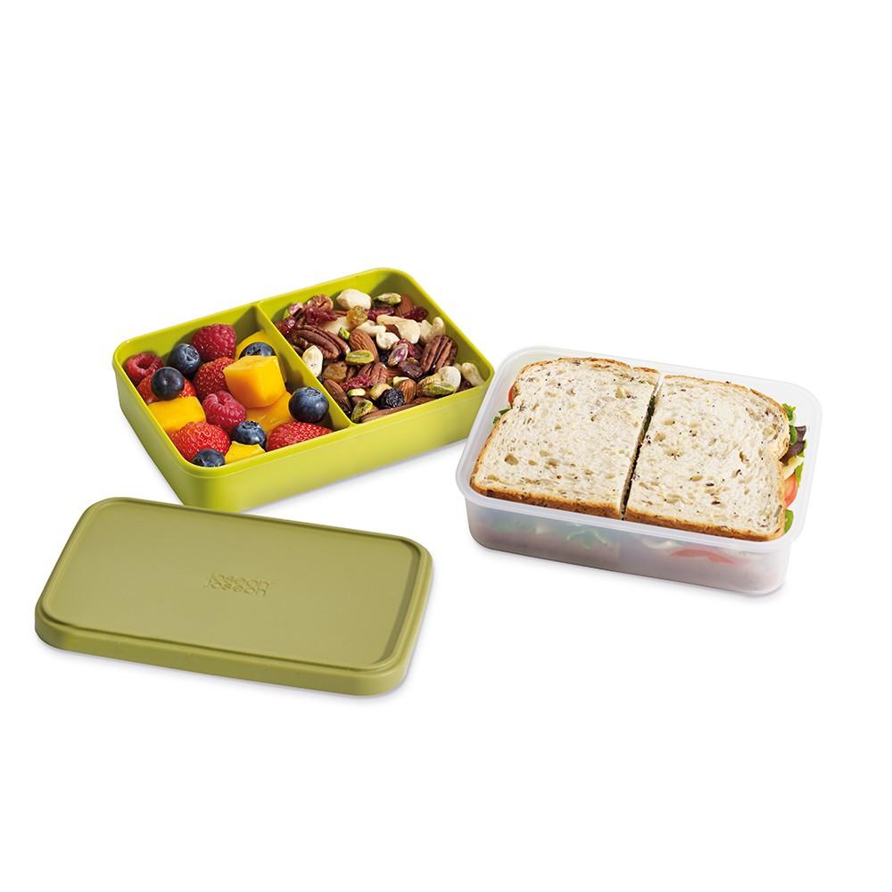 Ланчбокс GoEatУниверсальный контейнер имеет несколько отделов для разных видов продуктов, большой нижний контейнер предназначен для основных блюд, а верхние отделения для ягод, орех, разных снеков. Контейнер герметичен, закрывается силиконовой крышкой. Его удобно брать с собой на работу, в дорогу. Отличное решение для быстрого перекуса.<br>