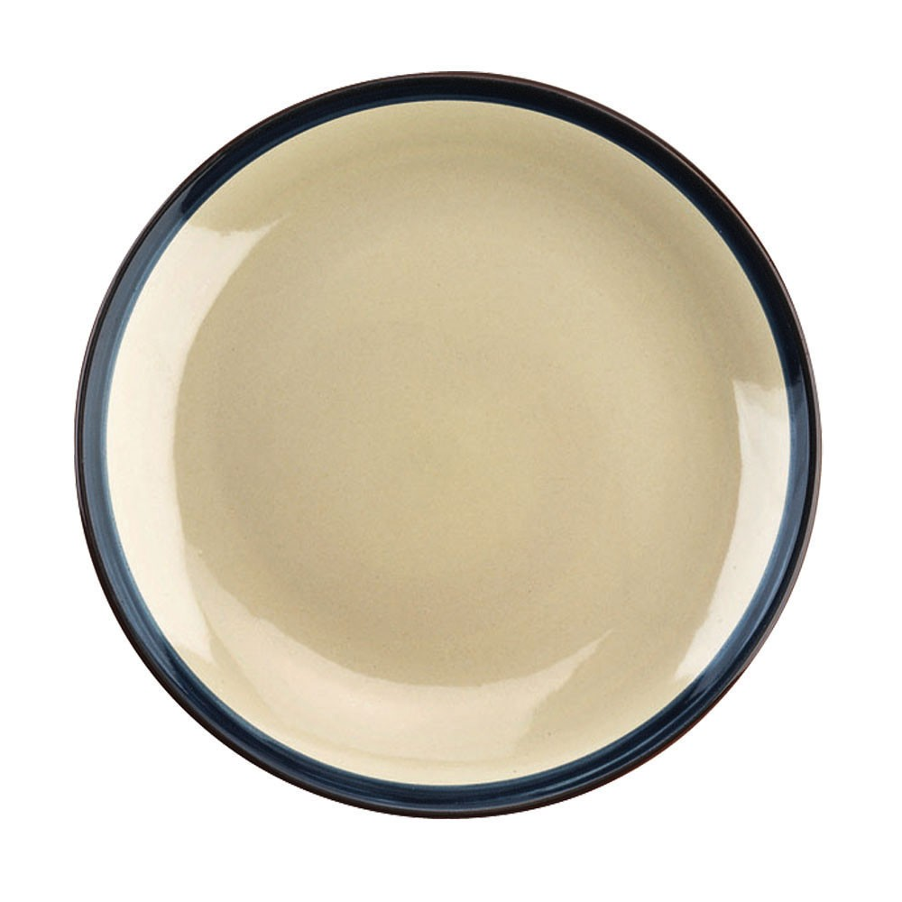 Тарелка обеденная FOGOLAR WINTER д.27 смТарелка обеденная FOGOLAR WINTER от итальянского бренда TOGNANA прекрасно дополнит сервировку Вашего обеденного стола и подарит хорошее настроение. Посуда выполнена из прочного фарфора с яркой каймой синего цвета. Серия FOGOLAR была создана под впечатлением от умиротворённости деревенской жизни, её простоты и чистоты природы. Диаметр: 27 см.<br>