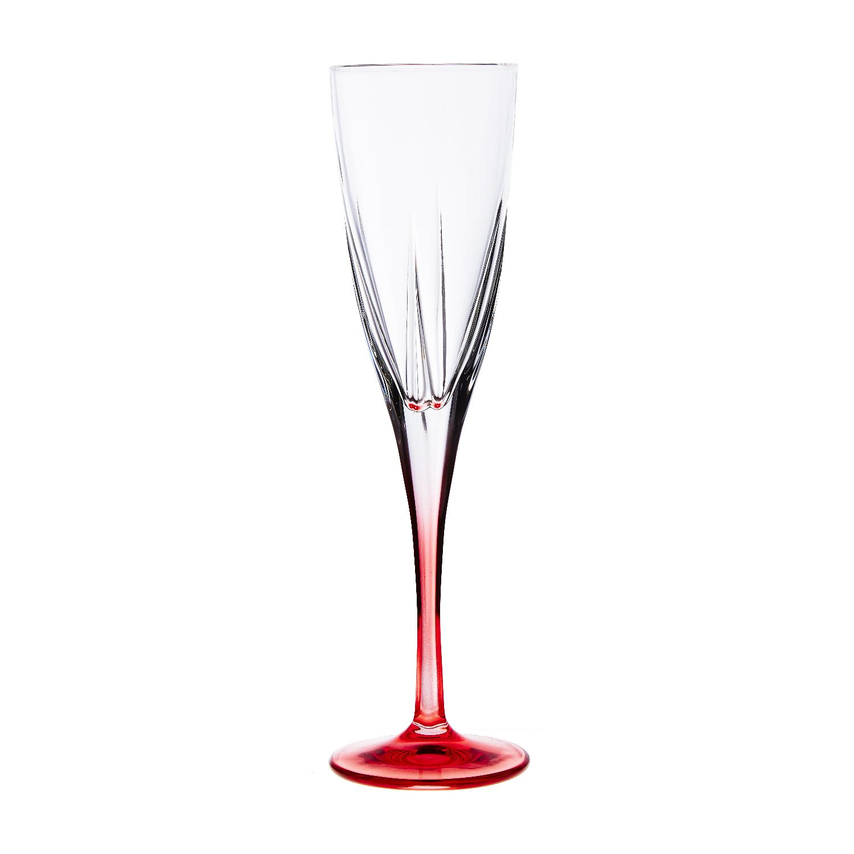 Набор бокалов для шампанского 170 мл. 6 шт. FUSION COLOURSНабор бокалов для шампанскогоФьюжн Колорсотличается изысканностью и элегантностью дизайна. Высокие стенки узкого бокала обеспечивают длительное сохранение вкуса и аромата игристого напитка, а преломление света в гранях стекла привнесет в ваш праздник настроение торжественности и роскоши. Бокалы изготавливаются из прочного стекла, для создания которого не применяются токсичные вещества. Набор станет универсальным выбором для дома, а также подойдет для применения в барах и ресторанах благодаря универсальному исполнению. Набор бокалов для шампанского Фьюжн Колорс – выбор для самых ярких праздников.<br>