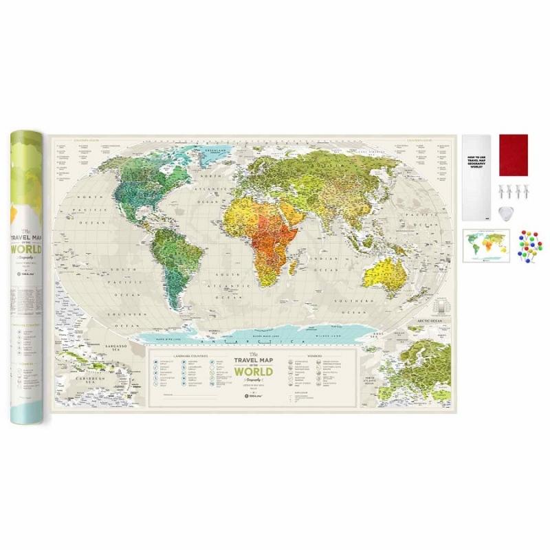 Карта Travel Map Geography World