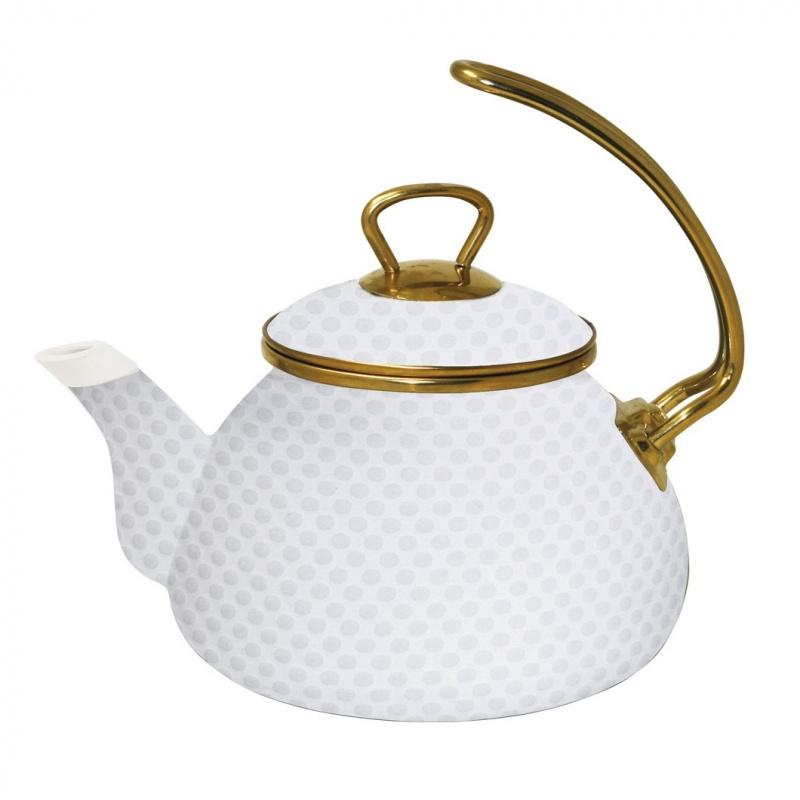 Чайник с золотой ручкой  2,2 л Anna Manelis Каролина