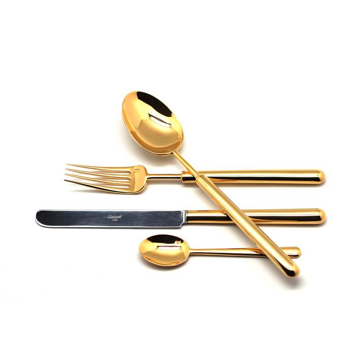 Набор столовых приборов Cutipol Bali Gold 24 предмета