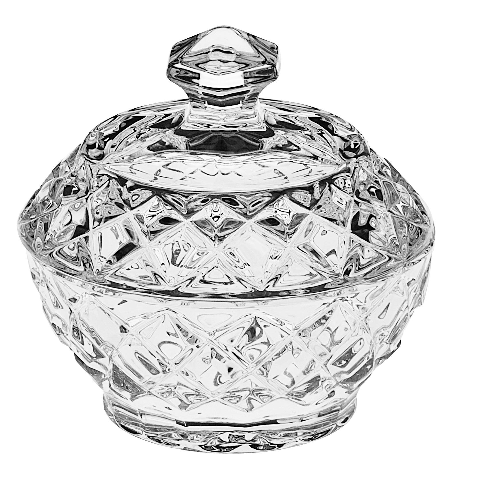 Доза для сахара Diamond, 9,6 см, ХрустальИкорница DIAMOND от CRYSTAL BOHEMIA создана специально для украшения стола и получения эстетического удовольствия. Она предназначена для хранения икры, но также в нее можно положить, например, сахар. Необычный дизайн и отличное качество выгодно отличают эту икорницу от всех остальных.<br>