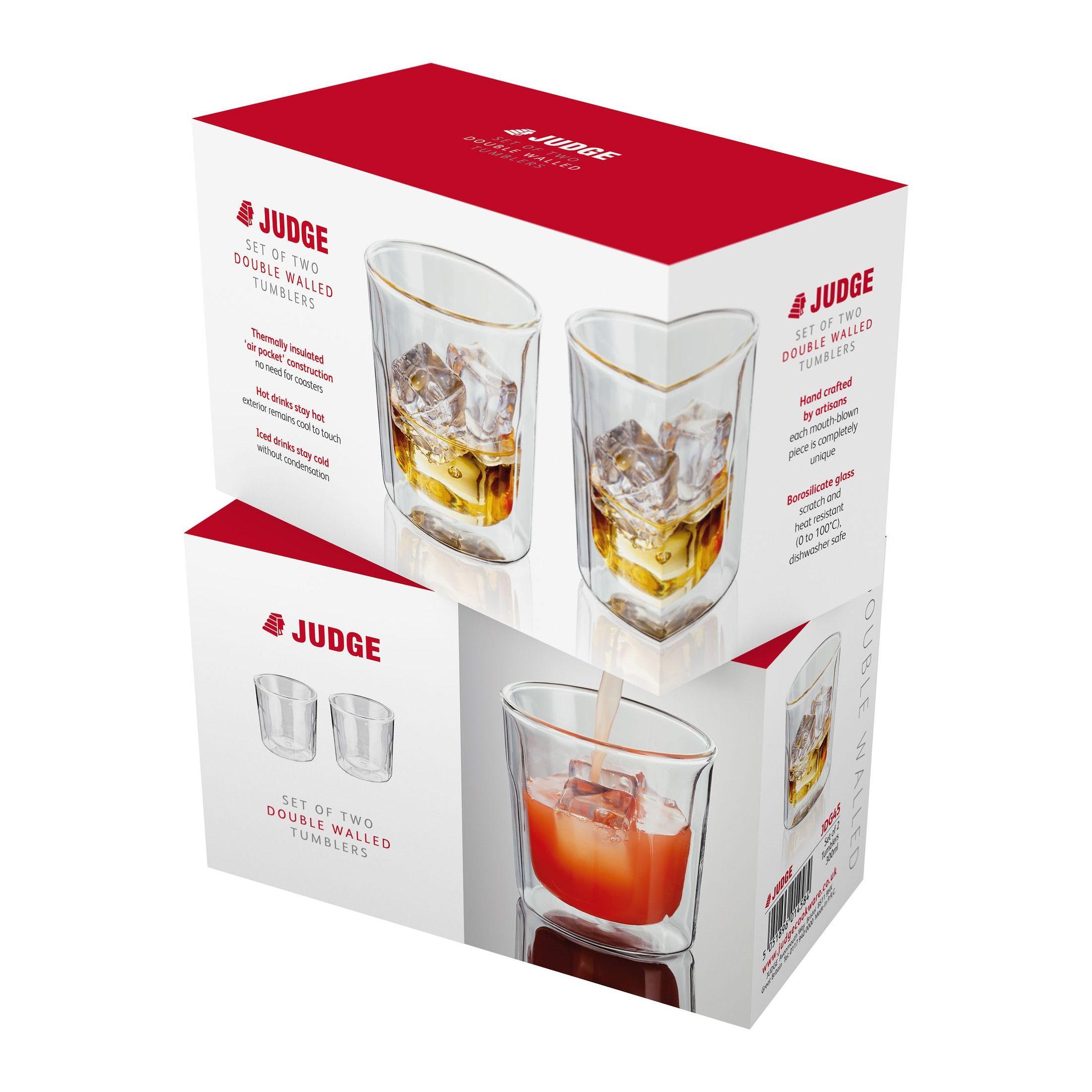 Купить со скидкой Набор стаканов 2 шт. 300 мл Judge Double Wall