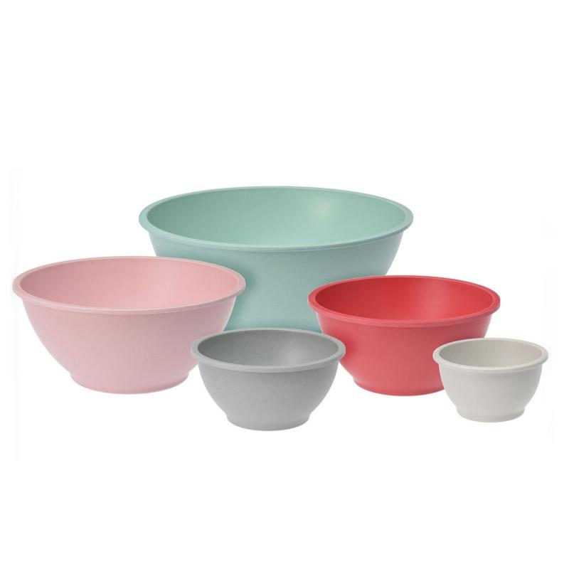 Набор мисок 5 шт различных диаметров в ассортиментеЯркий, оригинальный и стильный набор мисок различных диаметров – незаменимая вещь на кухне и отличное приобретение для каждой хозяйки. Изделия прекрасно подойдут как для подачи первых блюд и сухих завтраков, так и для салатов, овощей. К тому же они станут отличным элементом сервировки каждого стола. Миски выполнены из качественных долговечных материалов и прослужат вам не один год. Они неприхотливо в уходе и легко моются, к тому же их можно очищать в посудомоечной машине. Набор может стать замечательным подарком.<br>