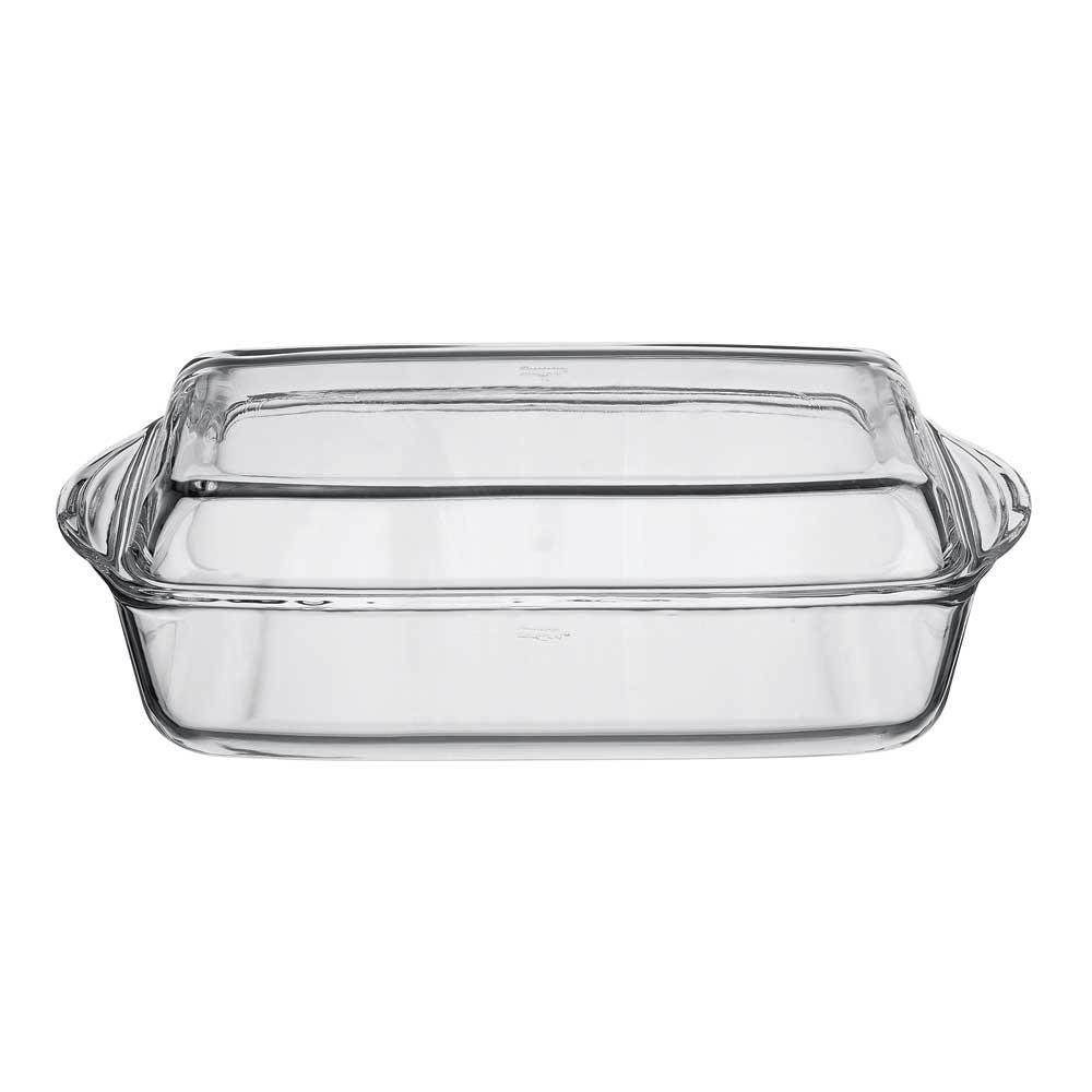 Форма для запекания с крышкой 2,8 л.Посуда для СВЧ лоток прямоуг. с крышкой 2,8 л<br>