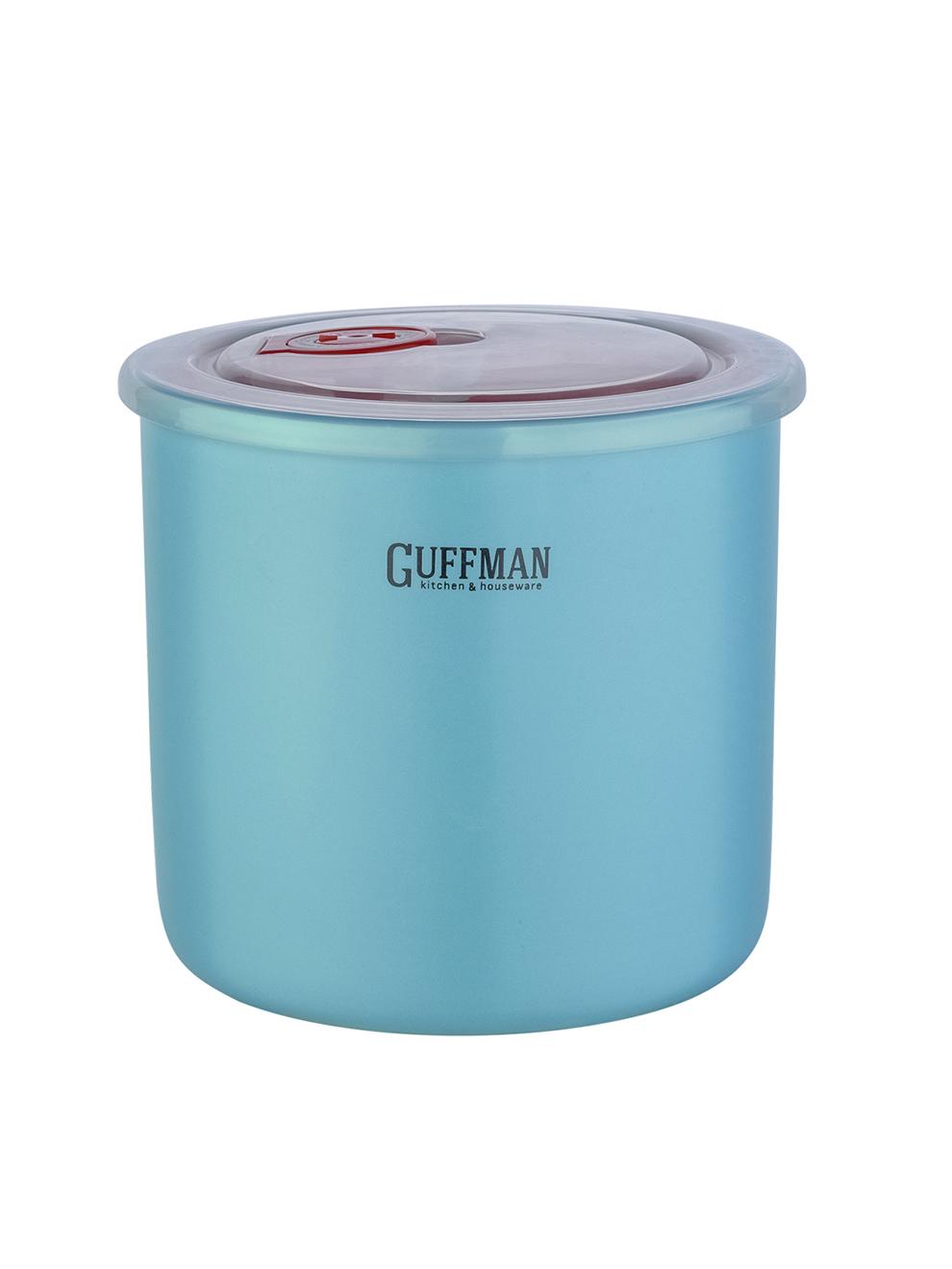 Банка керамическая с крышкой 1л Guffman голубая