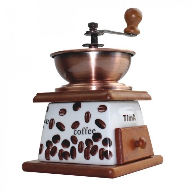 Кофемолка керамическая ручная TimA коричневый