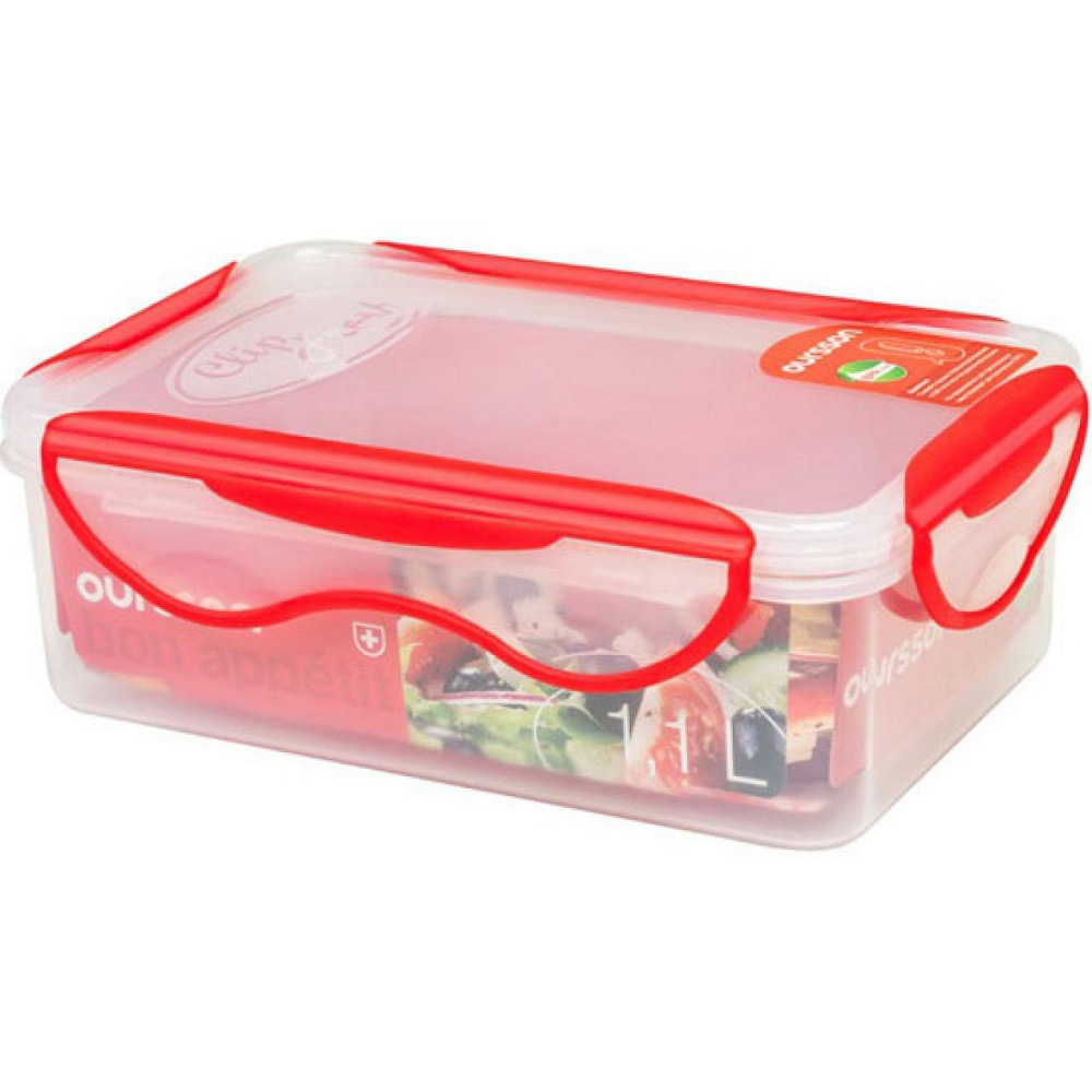 Контейнер пластиковый 1,1 л красныйКомпания Oursson - это производитель кухонной посуды и аксессуаров. Качественные, красивые, эргономичные изделия - вот, что с любовью производит для нас данная компания. Контейнер для продуктов - представитель марки Oursson, и он обязательно пригодится и полюбится вам. С ним ваши продукты останутся свежими, чистыми и вкусными надолго, и вы насладитесь приготовленной заранее пищей с огромным удовольствием.<br>
