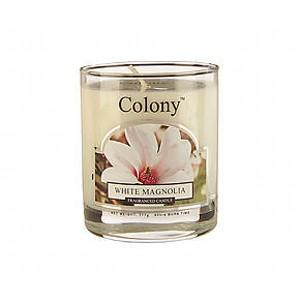 Свеча Белая магнолия в стеклеАроматическая свеча с ароматом Белая магнолия имеет невероятно богатый аромат изумительно красивого букета из белой магнолии, гардении, фрезии, розовой сирени и бутонов розы на основе ароматов персика, сандала, деликатных специй и чувственного мускуса В помещении постоянно ощущается чистота и комфорт, комната всегда наполнена легким ненавязчивым ароматом. Свеча может гореть до 16 часов.Она подарит вам неповторимый аромат.<br>