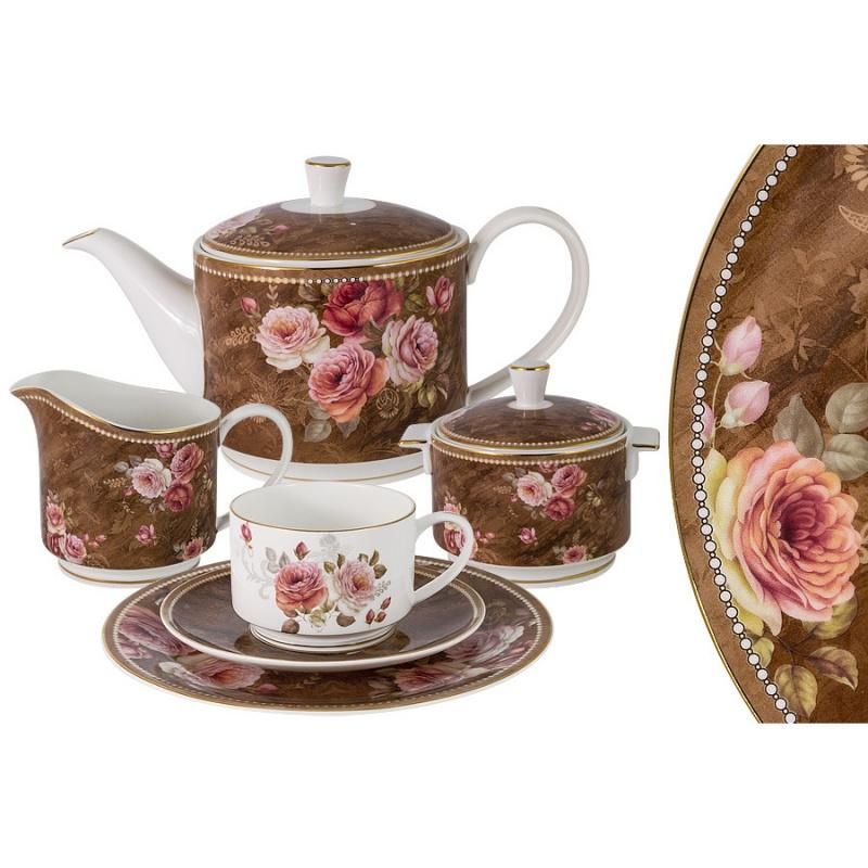 Сервиз чайный 6 персон 21 предмет Anna Lafarg Emily Английская роза