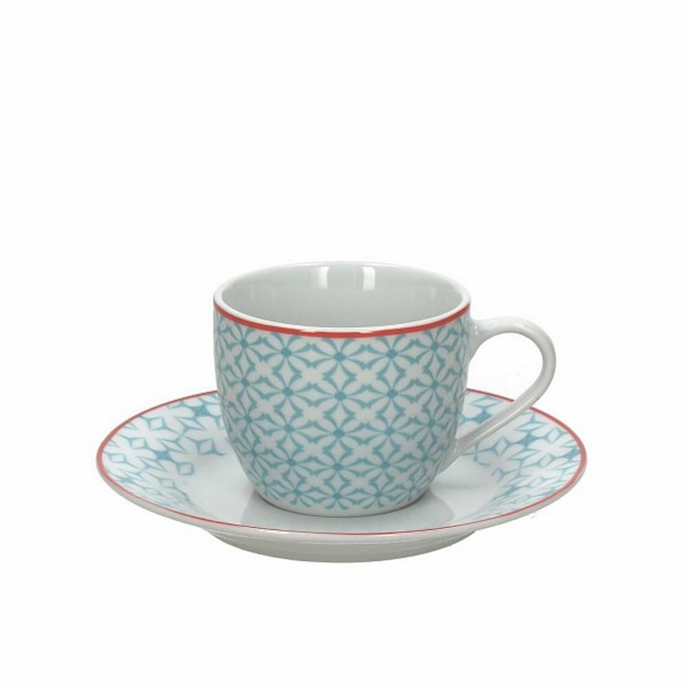 Набор чашек с блюдцами чайные KUBIK AZЧашка с блюдцем сделана из высококачественного фарфора. Благодаря ее оригинальному дизайну, она станет отличным подарком на любой праздник вашим друзья или близким. Коллекционеры посуды и настоящие ценители по достоинству оценят этот набор. Набор рассчитан на 4 персоны.<br>