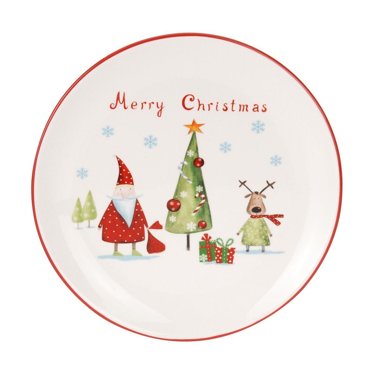Тарелка Merry christmas 20смтарелка Merry christmas 20см<br>