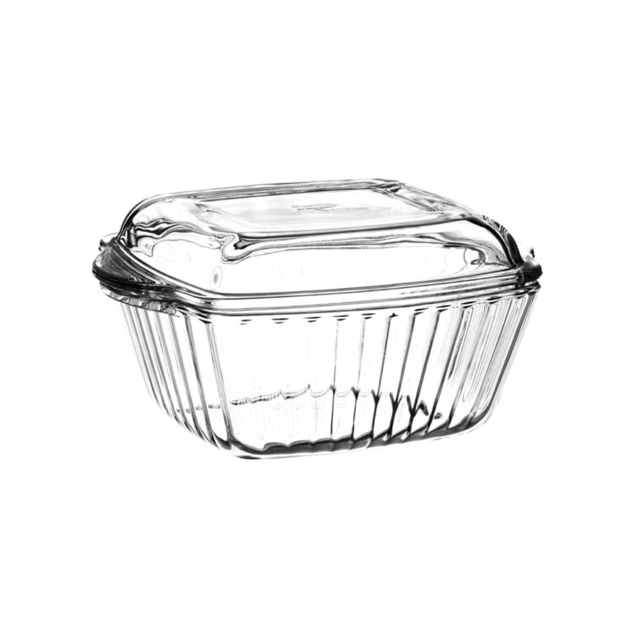 Форма для запекания с крышкой 1 л.Посуда для СВЧ форма квадратная с крышкой 1 л (204*160 мм)<br>