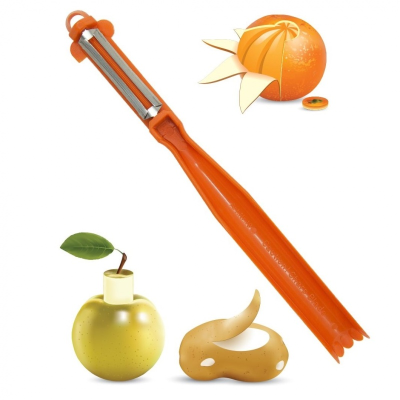 Нож-овощечистка с круглой ручкой Borner 3000346