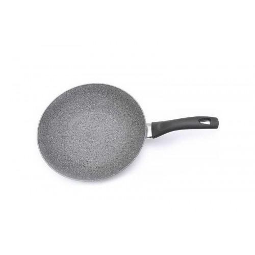 Вок 28 см CORTINA GRANITIUMКак известно во всем мире, итальянцы знают толк в приготовлении пищи! Ballarini являются известнейшим лидером по изготовлению посуды с антипригарным покрытием.Серия Cortina Granitium это не просто красивая посуда для приготовления любимых блюд. Инновационное покрытие из гранита, армированное металлическими частицами делают изделия максимально прочными, а также гарантирует полное сопротивление любым механическим повреждениям. Сковорода  Вок из этой линейки является превосходным примером соотношения цены и качества. Современный дизайн, лучшее антипригарное покрытие и удобная форма делают ее любимицей шев-поваров по всему миру. Посуду можно использовать на всех типах плит, кроме индукционных, а также легко мыть в посудомоечной машине.<br>