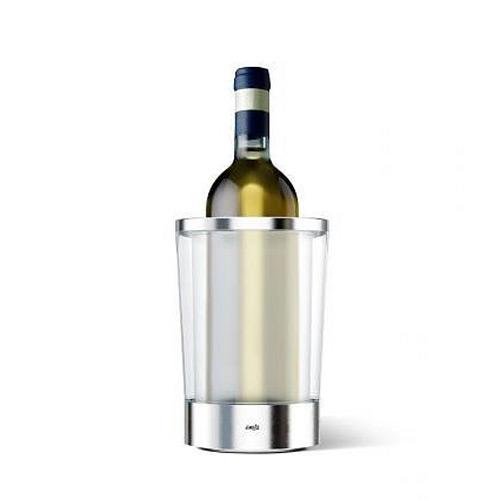 Термо ведро д/вина FLOW SLIM прозрачноеКомпанией Emsa создан удобный куллер для охлаждения вина с охлаждающим элементом Flow. Для использования достаточно просто поместить охлаждающий элемент на дно термо ведра, предварительно заморозив его. Способен поддерживать температуру жидкости до 4-х часов.<br>