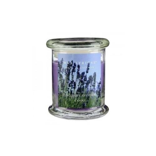 Свеча ароматическая в стекле Лаванда большая 8х12х8 фиолетовыйСвеча ароматическая в стекле Лаванда большая от английской компании Wax Lyrical.  Уникальное средство для устранения неприятного запаха. Благодаря технологии Odouraze , которая находит молекулы неприятного запаха, окутывает их и полностью уничтожает. Придаст воздуху  расслабляющий аромат лаванды с нотками эвкалипта и бергамота.<br>
