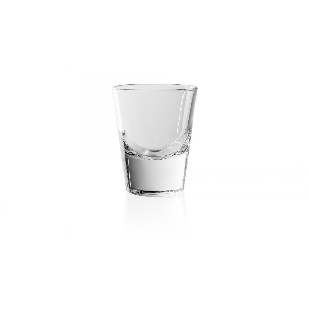Стопка для водки 80 мл. RIALTOСтопка для водки итальянского  производителя Vidivi сделана из высококачественного стекла. Необычный дизайн и форма украсят любой интерьер. Она  отлично впишется в уже имеющуюся коллекцию вашей посуды или станет хорошим подарком для ваших друзей и близких.<br>