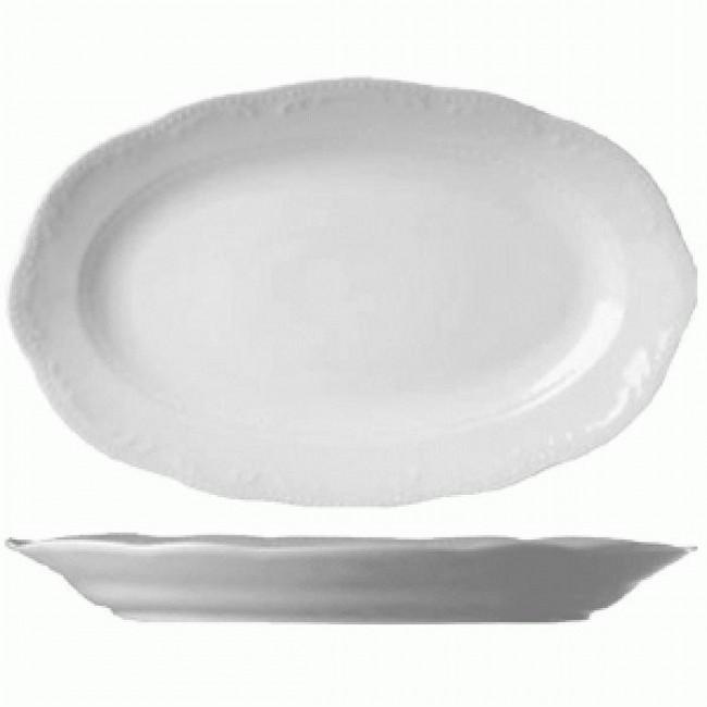 Тарелка овальная V.WIENNAТарелка фирмы Tognana сделана из фарфора высокого качества. Благодаря своему оригинальному дизайну, она отлично подойдет для сервировки вашего праздничного стола. Тарелка украсит не только ваш стол, но и  ваше блюдо. Оно приобрет невероятную привлекательность и возбудит аппетит ваших гостей.<br>