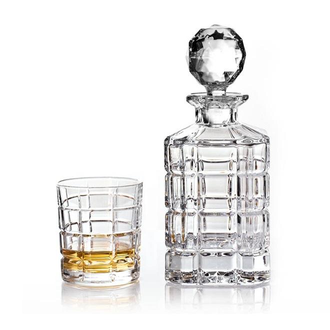 Набор для виски штоф 800 мл + 2 стакана 320 мл Crystal Bohemia Timesquare