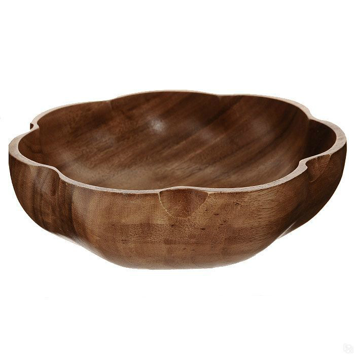 Салатница Кармэн 15х5 смБренд Oriental Way уже более 15 лет создает стильную и высококачественную посуду из натуральной тропической древесины и бамбука. Салатник Кармэн имеет необычную красивую форму и подходит как для холодных закусок, так и для овощных салатов. Каждая стенка емкости покрыта специальным пищевым лаком, который является безвредным для организма, но при этом сохраняет посуду в идеальном состоянии на долгие годы. Это очень удобный предмет сервировки, который обязательно украсит Ваш дом и порадует гостей. Деревянная посуда не впитывает влагу и запахи, а также имеет долгий срок службы, по сравнению с другими материалами. Такая посуда может быть отличным подарком, ведь она отличается своим качеством и оригинальностью. Нельзя мыть в посудомоечной машине.<br>