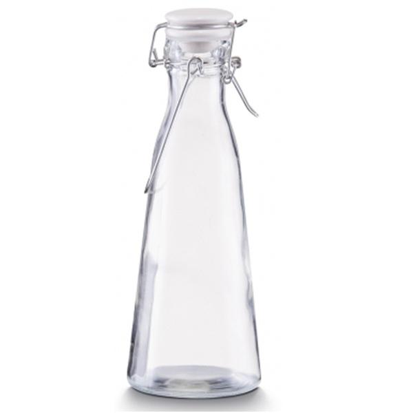 Емкость для масла и уксуса с застежкой 0,5л., d-8,5см. х24см,  стекло стеклоСоздавая кухонные аксессуары, Zeller пропитывает их гармонией и любовью. Емкость для масла и уксуса - приятный помощник на кухне. Вы с удовольствием будете пользоваться этим замечательным инструментом, а он в свою очередь поможет вам дозировать используемые жидкости, а также не пачкать рабочую поверхность, руки и одежду.<br>