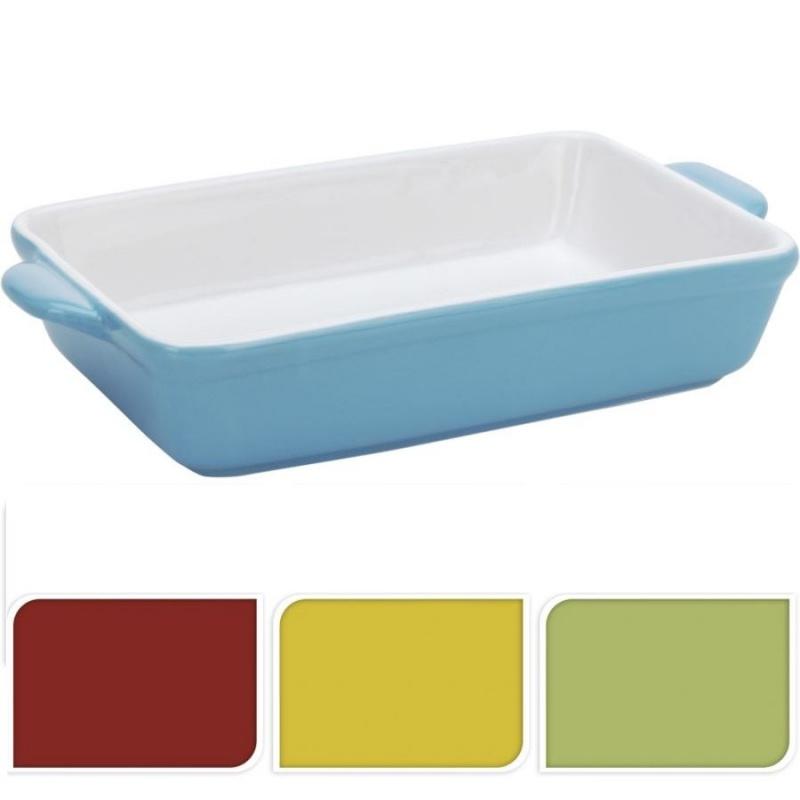 Форма для выпекания в ассортиментеФорма для выпекания имеет универсальную прямоугольную форму. Изготовлена из качественного жаропрочного материала, который не токсичен, безвреден для здоровья и выдерживает высокие температуры. Посуда выполнена в двух цветах: внутри - светлое, а снаружи имеет несколько цветовых вариантов. По двум сторонам располагаются ручки, за которые изделие удобно доставать из духовки. Форма выглядит эстетически привлекательно, поэтому в ней можно не только выпекать, но и оригинально и красиво подать готовое блюдо к сервированному столу.<br>
