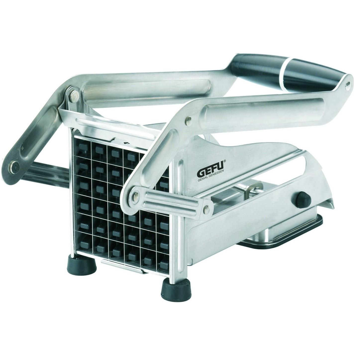 Машинка для резки картофеля металлическаяБлагодаря бренду GEFU кухонные пренадлежности очень просты в использовании. С машинкой для резки картофеля приготовление картофеля фри не составит труда. Качество машинки сохранит её на долгие годы и будет незаменимым помошником для Вас.<br>