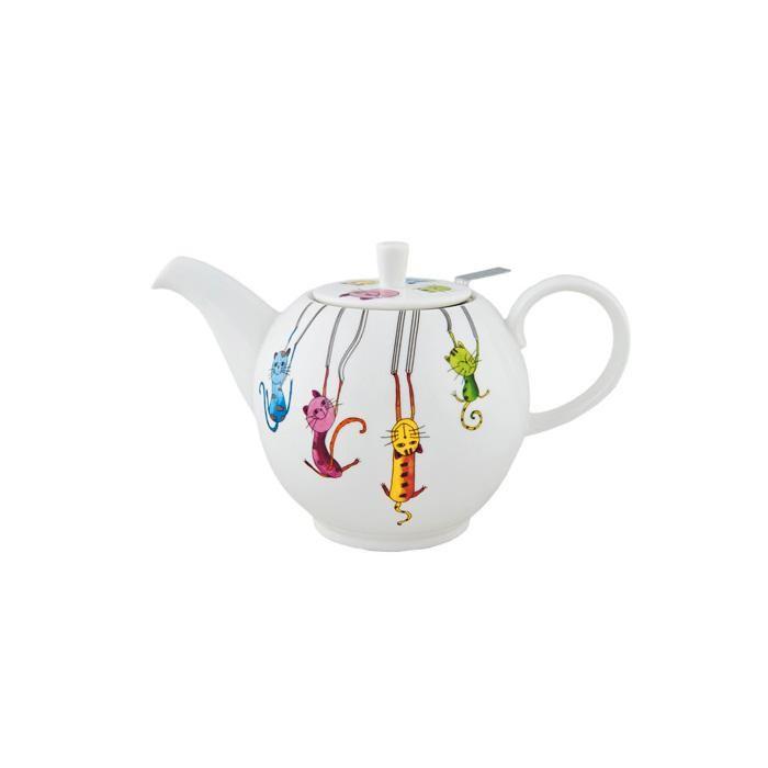 Чайник ПаркурЧайник Паркур изготовлен из качественного костяного фарфора белого цвета. Он имеет классическую форму и декорирован ярким рисунком. Чайник сочетает в себе стильный дизайн и максимальную функциональность.<br>