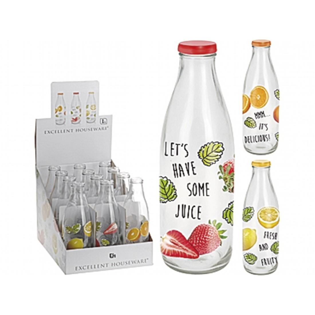 Бутылка с крышкойExcellent Houseware производит посуду и различные предметы для дома. Бутылка для воды - удобный аксессуар на прогулке или пикнике. Внимание! Выбирать цвет заранее не представляется возможным.<br>