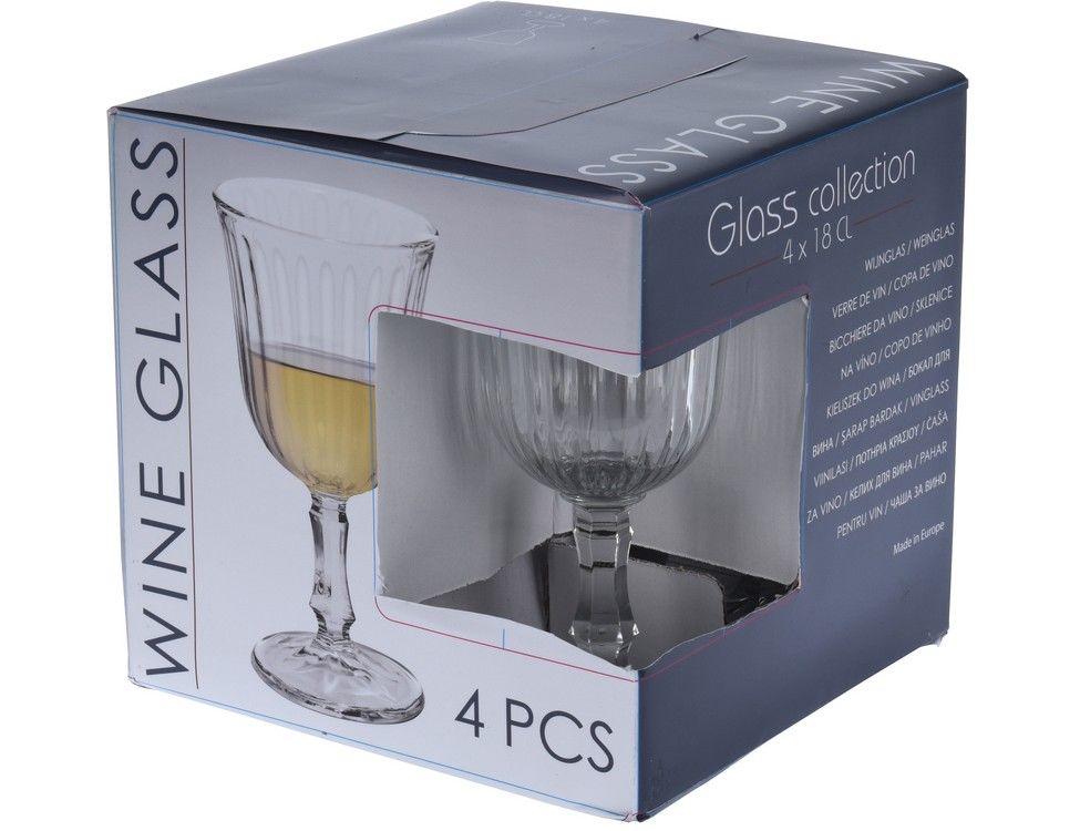 Набор бокалов для белого вина 4 шт 180 мл